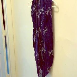 Navy infinity scarf with bicycle print